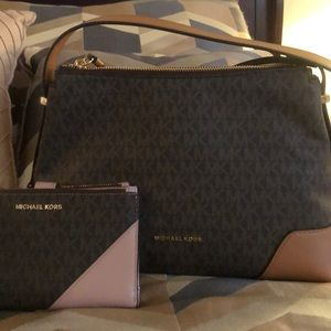 Brown MK purse.